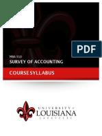 MBA 510 Syllabus