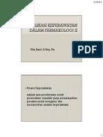 Implikasi Keperawatan Dalam Farmakologi II