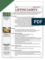 Toolbox Talks Lifting Safety English
