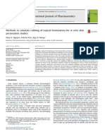 Methods to Simulate Rubbing of Topical Formulation for in Vitro Skin Permeation Studies