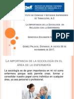 _La Importancia de La Sociología en Relación Con La Enfermería