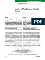 De la filosofía moral a la filosofía moral aplicada