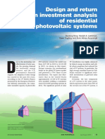 Design and Return on Investment Analysis of Residential Solar Photovoltaic Systems