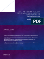 Lane Detection, Object Tracking, Distance Measurement of Self Driving Car