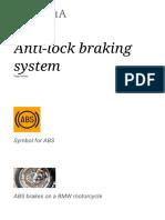 Anti-lock Braking System