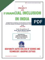 Financial Inclusion in India(2017) Sabana