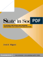 State in Society -Studying How States and Societies Transform and Constitute One Another