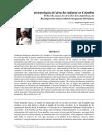Epistemologias Del Derecho Indigena en Colombia Version 2