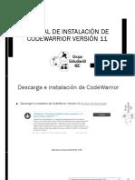 Manual de Instalación de CodeWarrior Versión 11