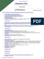 Pharmacy Related Databases