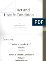 Unsafe Act and Unsafe Condition12