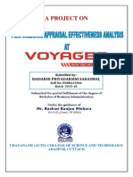 PERFORMANCE APPRAISAL EFFECTIVENESS ANALYSIS AT VOYAGER