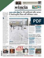 La Provincia Di Cremona 04-03-2018 - Prima Pagina