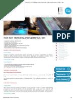 PCN UT Course in Trichy, PCN RTFI Training in Trichy, PCN PT, MT, Eddy Current Courses in Trichy – TIW