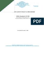 Als-welding Safety Policy Procedure