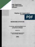 62637 l Enseignement Superieur de La Bibliotheconomie Et Des Sciences de l Information Aux Etats Unis Et en Allemagnememoire d Etude