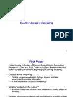 Context Aware Systems - Seminar Presentation