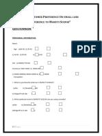 102260488 Maruti Questionnaire
