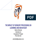 Kathryn Edmands the Impact of Sensory Processing
