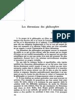 Les discussions des philosophes
