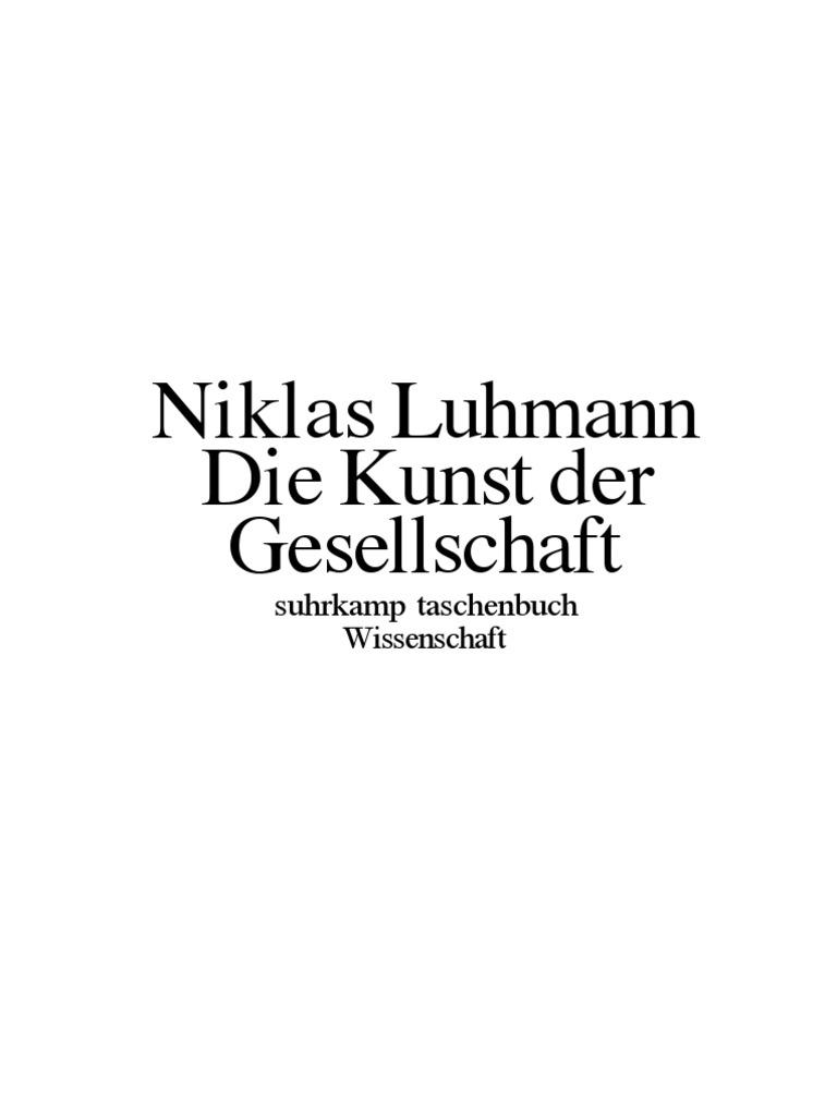 Luhmann - 1995 - Die Kunst Der Gesellschaft