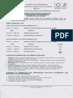 Program for March 2018 LET