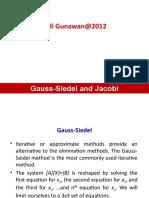 2012 Gauss Seidel Jacobi