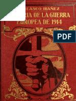 Vicente Blasco Ibáñez - HISTORIA DE LA GUERRA EUROPEA DE 1914 (TOMO 4)