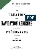 La creation de la Navigation Aerienne au moyen de Pteronaves