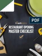 TouchBistro Restaurant Pre Opening Checklist