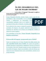La Teoría Del Desarrollo Del Lenguaje de Noam Chomsky