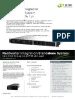 Datasheet Rectiverter Integration Standalone 48 VDC 3kVA 1ph