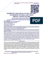 DOSIMETRY ANALYSIS OF 3D CRT AND IMRT TECHNIQUES ON SMALL AND LARGE  BREAST CANCER VOLUME