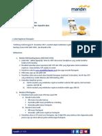 FAQ Registrasi Fiestapoin Melalui Mandiri ATM Mandiri SMS