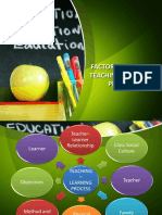 Factors Affecting Teaching-learning Process