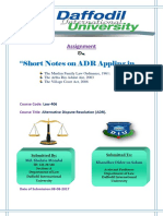 Assignment on Related Law in Bd Used in ADR