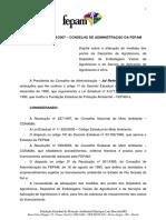 Resolução Nº 009-2007 - Ad Referendum - DOE de 24.10.2007