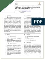 Sistema Monofásico Carga RL y RC