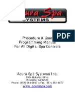 AcuraSpa Digital Controls User Manual.revc.07
