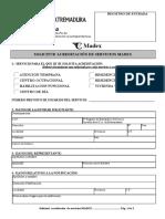 Solicitud de Acreditacion de Servicio Madex