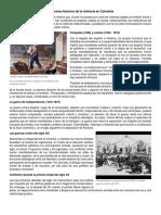 Panorama Histórico de La Violencia en Colombia