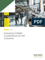Rimini Street White Paper Evaluating S4HANA Considerations for SAP Customers