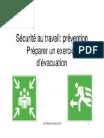 Sécurité Au Travail_ Prévention Préparer Un Exercice d Évacuation. 1423 Michel Antoine 2012 1