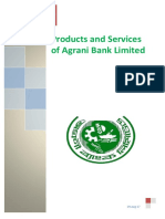 Report on Products Services of Agrani Bank Limited