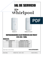 Refrigeradoras WHIRPOOL