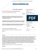Teorias Curriculares, Perspectivas Teóricas Em Educação Física Escolar e Implicações Para a Formação Docente
