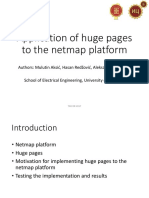 Aplication of huge pages to the netmap platform