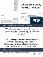Equity Research Report Slides