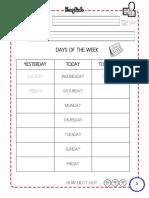 DAYS of the WEEK English Worksheet