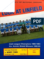 Linfield v Newry Town 21.04.84